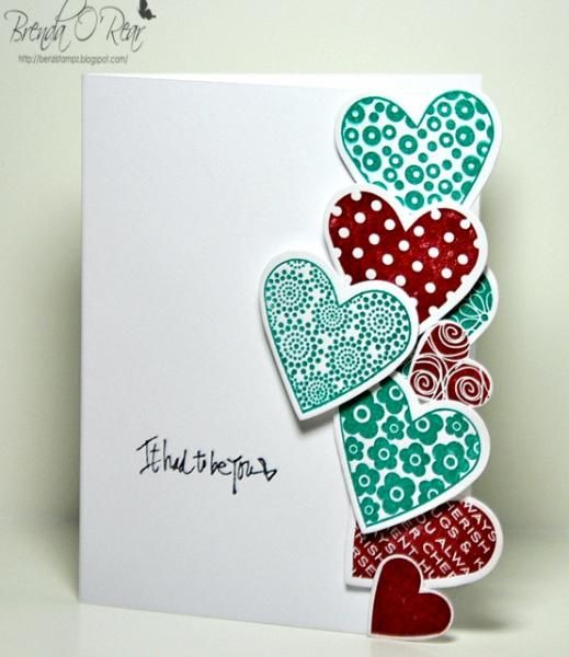 Edged Hearts by Benzi - Cards and Paper Crafts at Splitcoaststampers