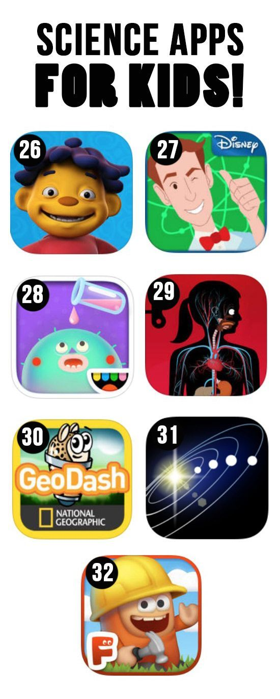 Some awesome apps to help teach science and make it fun for kids of all ages. Lots of different sites for every lesson plan imaginable in the science subject!