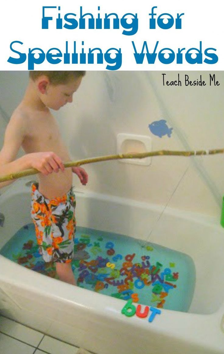 fishing for spelling words