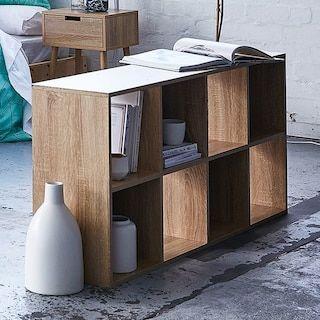 8 Cube Storage Unit Wood Look