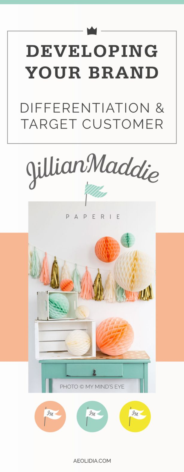 JillianMaddie Paperie is a new paper, packaging and party supply business. We worked to help differentiate this brand with a unique selling proposition, and to define a target customer profile. Click to read more, or save this pin to read later! http://aeolidia.com/understand-your-business/?utm_campaign=coschedule&utm_source=pinterest&utm_medium=Aeolidia&utm_content=Understand%20Your%20Business%3A%20JillianMaddie%20Paperie