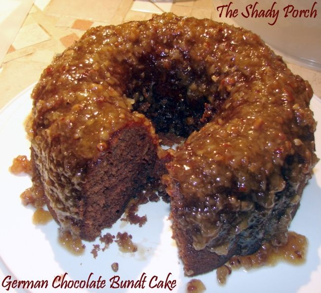 German Chocolate Bundt Cake From Box