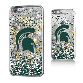 Michigan State Spartans Gold Glitter iPhone 6 Plus Case
