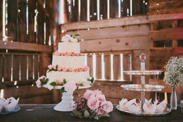 Vintage cake and dessert table for Neve and Stratton's wedding at Cambium Farms! #barnwedding #caledon #farmwedding #elegance #toronto #countrywedding #cambiumfarms