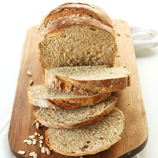 Easy, 9 ingredient seeded whole grain bread with oats, sunflower seeds and flax seed. Hearty, wholesome and so simple to make!