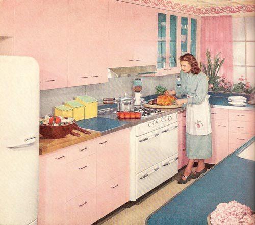 Pink And Black Kitchen Ideas: 1000+ Ideas About 1950s Kitchen On Pinterest