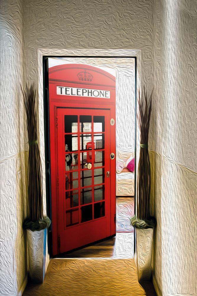 Door sticker – English Telephone Box