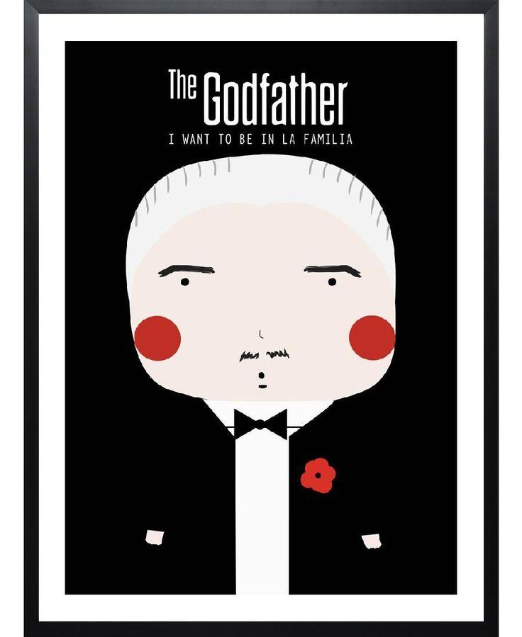 Little Godfather as Framed Art Print by Niñasilla