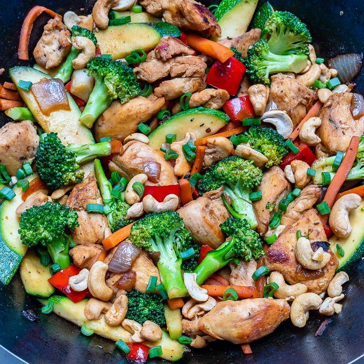 Cashew Chicken + Veggie Stir Fry Recipe Clean recipes