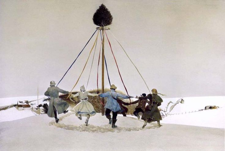 """Andrew Wyeth """"Snow Hill"""" one of my favorites of his at the Brandywine Museum"""