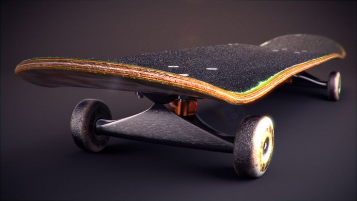 3D Skateboard Illustration