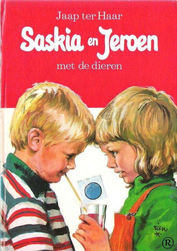 Saskia en Jeroen - Met de dieren.  Schrijver: Jaap ter Haar. In 1971 uitgegeven door Holkema & Warendorf-Bussum
