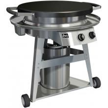 Its the first outdoor BBQ grill that allows you to cook directly and indirectly at the same time. - Evo Professional Classic Wheeled Cart Flattop Natural Gas Grill With Ceramic Cooking Surface : BBQ Guys