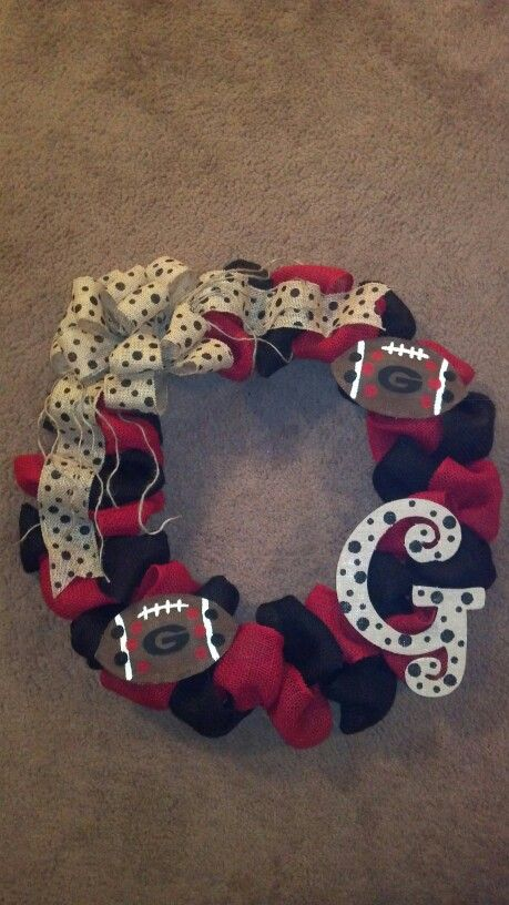 Burlap Georgia Bulldog wreath