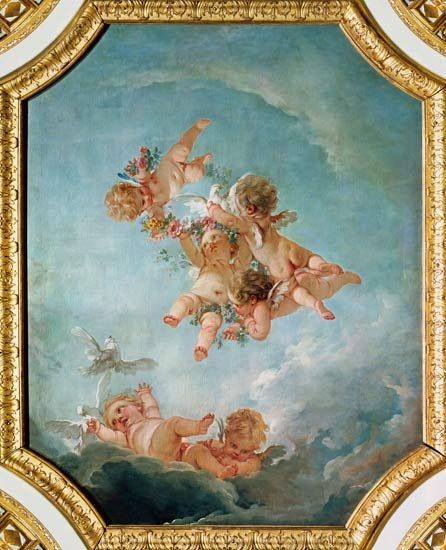 François Boucher - Spring, from a series of the Four Seasons in the Salle du Conseil