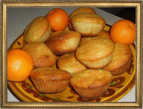 Творожные маффины с мандаринами.