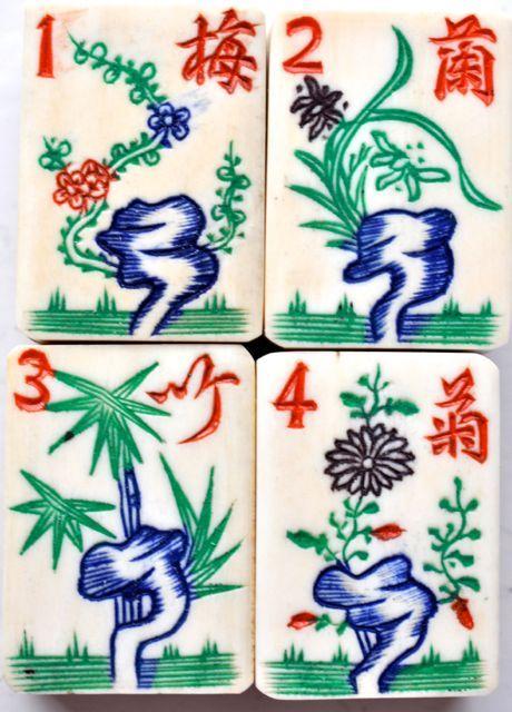 Mah Jong Flower tiles
