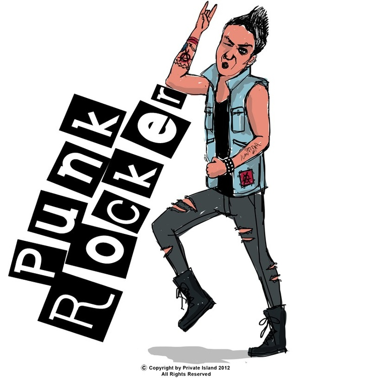 Private Island Party  - Punk Rocker Instant Costume, $15.99   Oi Oi Oi! This Punk Rocker Instant Costume right here will tear you up! Great with your dirty jeans or your ripped t-shirt, PUNK WILL NEVER DIE!