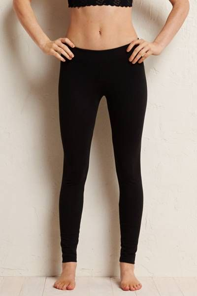 Basic wardrobe staple black leggings