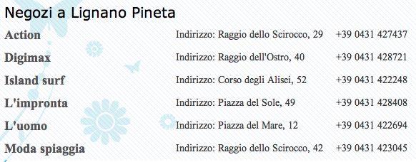 Negozi a #LignanoPineta http://www.lignanosabbiadoro.com/negozi-e-shopping-lignano