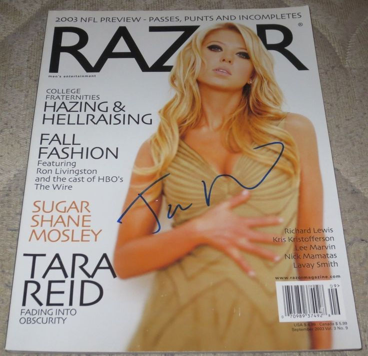 HOT SEXY TARA REID SIGNED RAZOR MAGAZINE AMERICAN PIE AUTHENTIC AUTOGRAPH COA