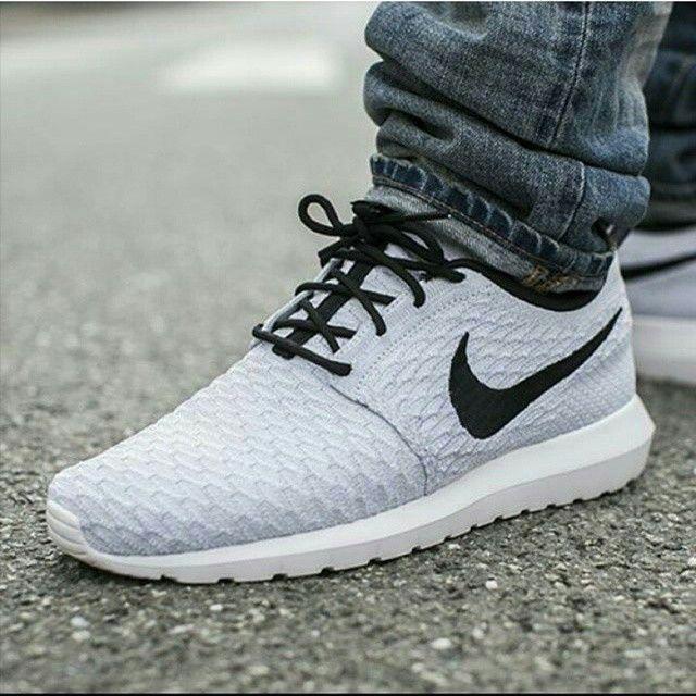 16dcd1c2829a ... roshe run flyknit grey navy ... 967 best SHOES images on Pinterest  Jordan sneakers