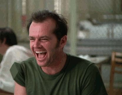 "Jack Nicholson, ""One Flew Over the Cuckoo's Nest"" (Miloš Forman, 1975).  haidaspicciare:"