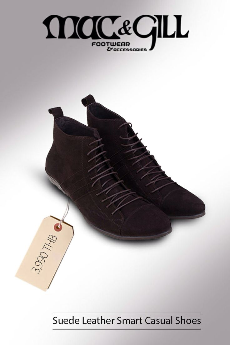Suede Leather Smart Casual Shoes 3,990 ฿  www.mac-gill.com