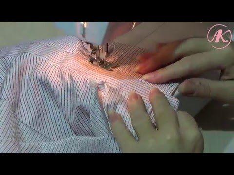 Воротник с косточками для мужской рубашки. Часть 2