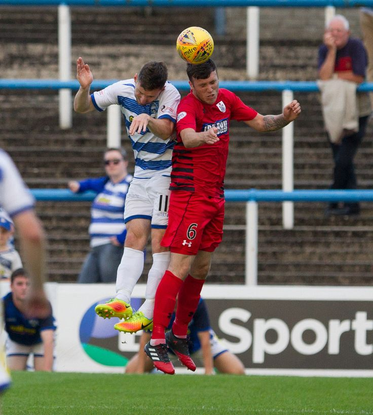 Queen's Park's Adam Cummins in action during the Betfred Cup game between Morton and Queen's Park