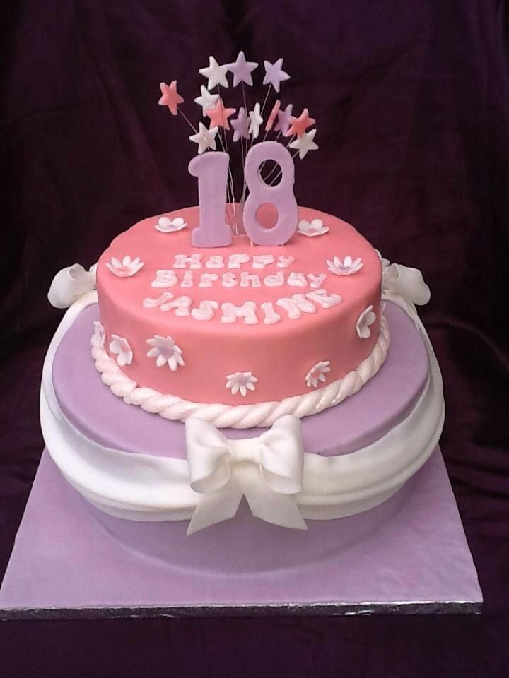 32 best images about birthday cakes on pinterest pink for 18th cake decoration