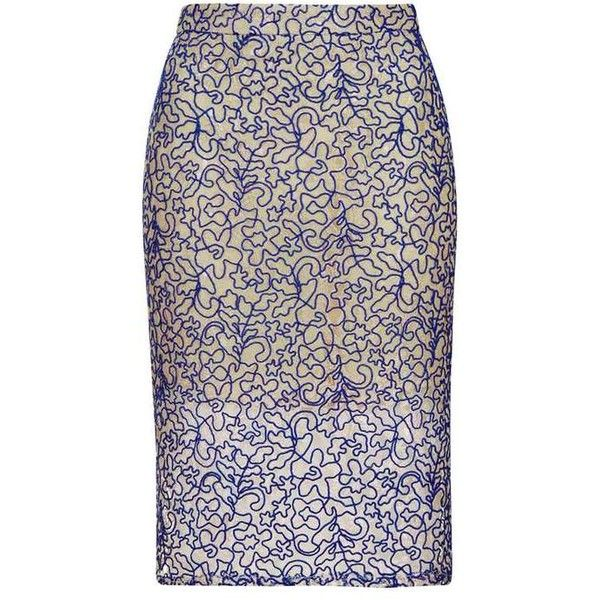 TopShop Petite Cord Lace Pencil Skirt (681.960 VND) ❤ liked on Polyvore featuring skirts, topshop skirts, pencil skirts, zipper skirt, purple lace skirt and lace pencil skirt