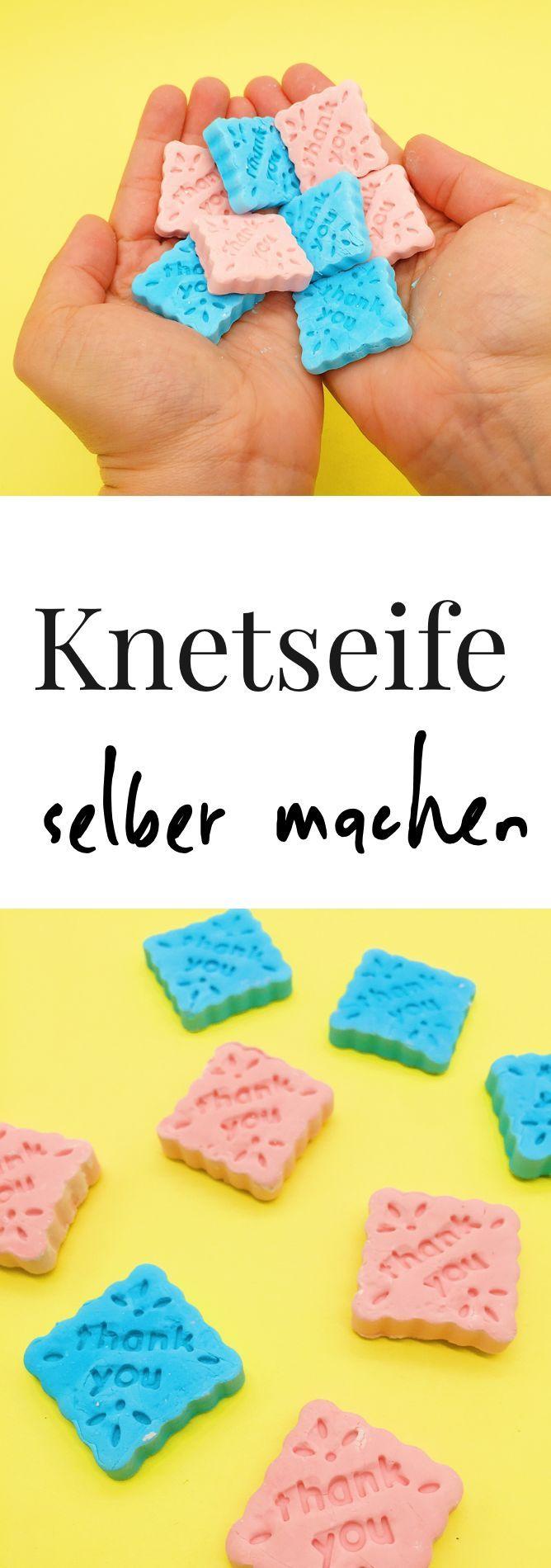 DIY Knetseife selber machen: schöne DIY Geschenke für Kinder und Erwachsene. Bastelideen für Kinder. Einfache DIY Anleitung mit Video zum nach basteln.