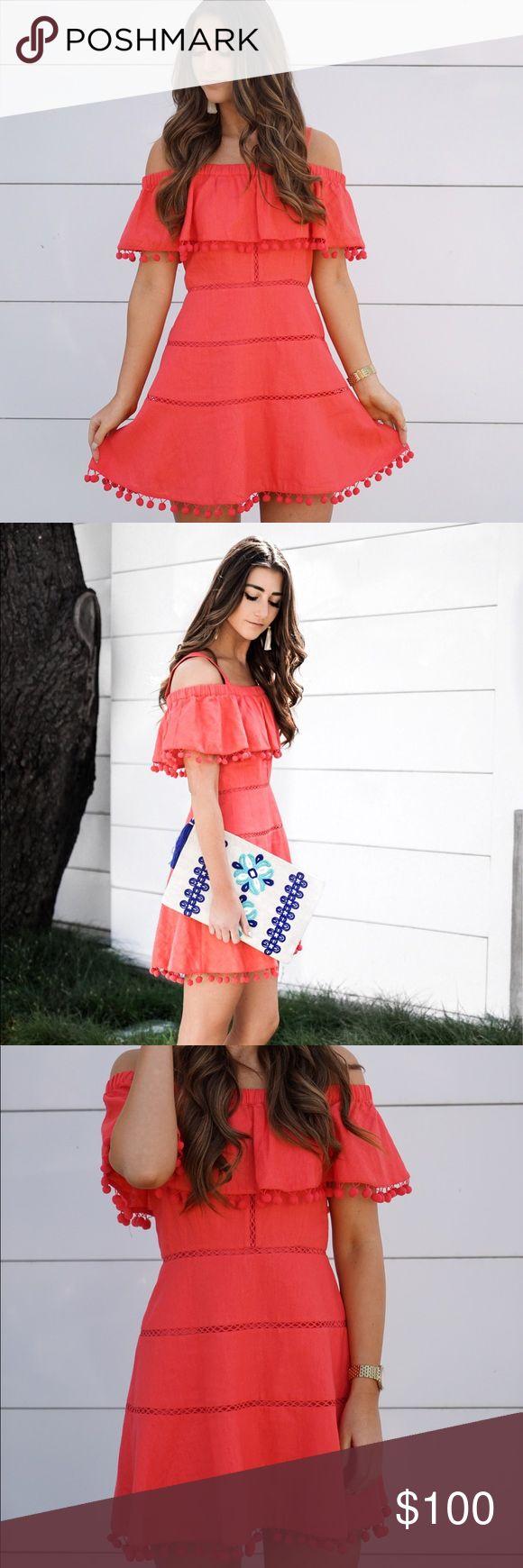 Selling this Red Carter Swim Pom Pom Dress on Poshmark! My username is: emilyemig. #shopmycloset #poshmark #fashion #shopping #style #forsale #Red Carter Swim #Dresses & Skirts
