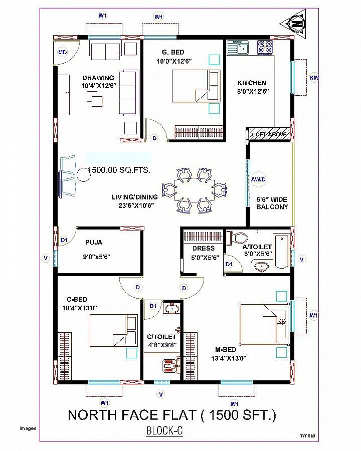 Vastu Shastra House Plan North Facing South Facing House Duplex House Plans West Facing House