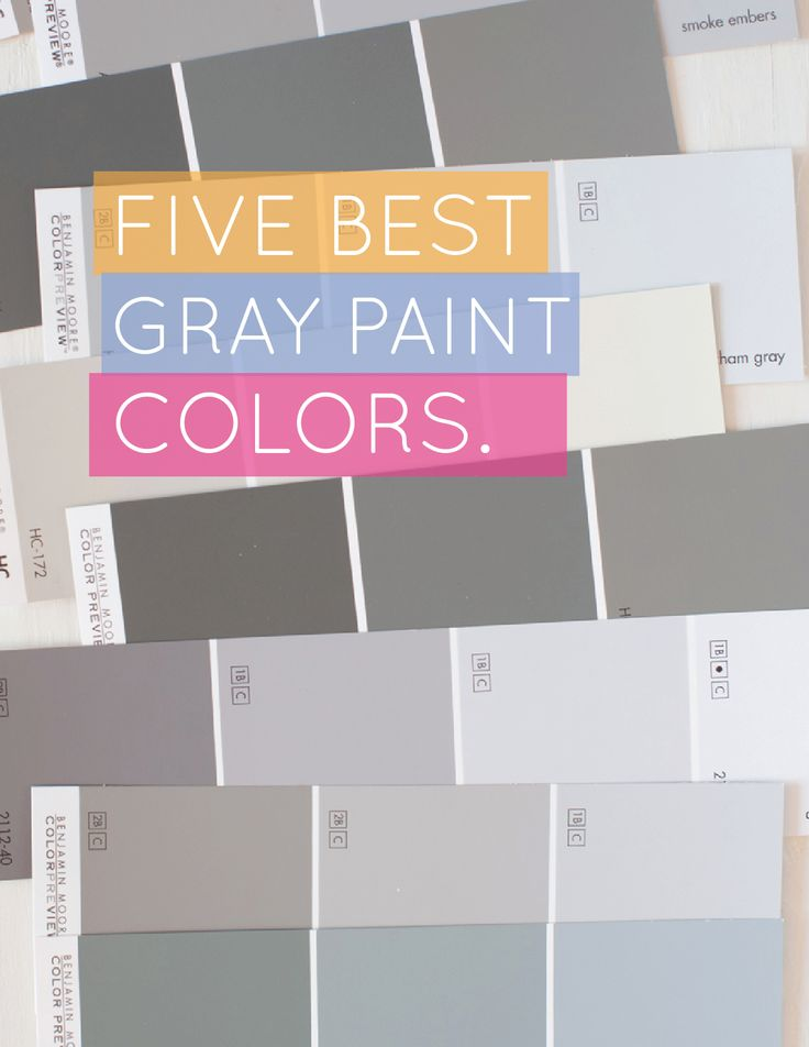 5 Best Gray Paint Colors on