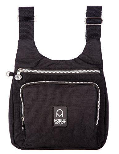 Crinkle Nylon Vagabond Crossbody Handbag
