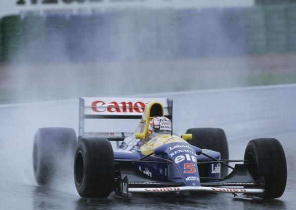 Nigel Mansell  Williams  FW14B - Renault V10