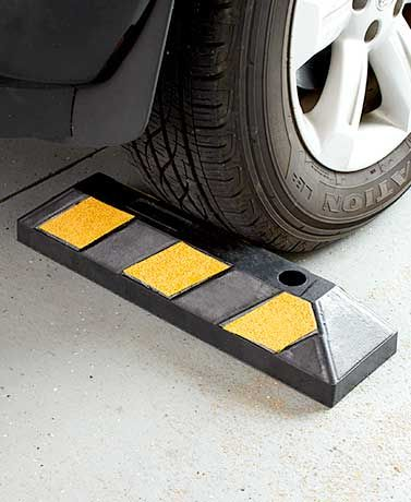 Parking in your garage is easier with this Heavy-Duty Parking Curb. This commercial-grade curb helps you stop your vehicle in the same place every time. $11.98