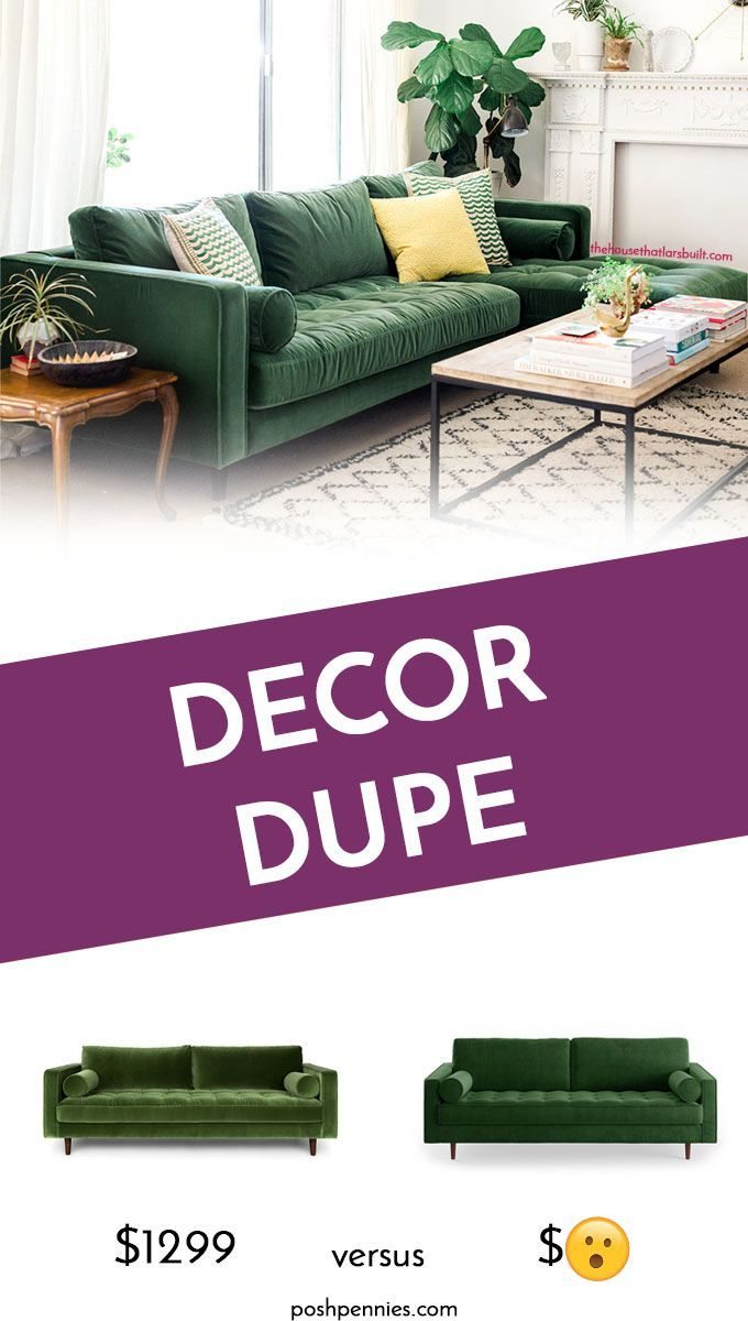 Best Affordable Dupe Of The Velvet Article Sven Sofa Home Decor