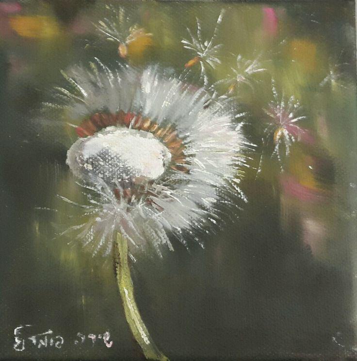 Make a Wish. Art by Shira Harpaz Pomeranz. 2017. Oil on canvas. 15x15 cm.