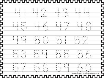 Numbers 1-100 Tracing Worksheets | Tracing worksheets ...