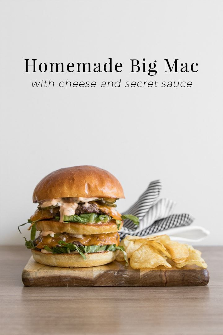 Real fast food you can feel good eating, our Big Mac recipe houses the same classic layers made with buns from a local bakery, grass-fed ground beef, Canadian cheddar and secret sauce, made with homemade mayonnaise, ketchup, onions and pickles. #BeautifulFood #Burger #BigMac