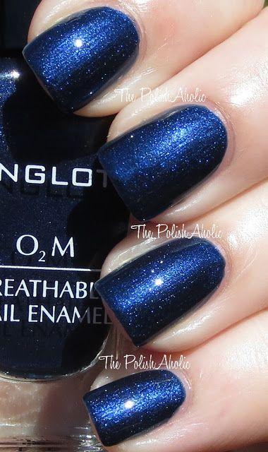 Midnight blue- wedding nails