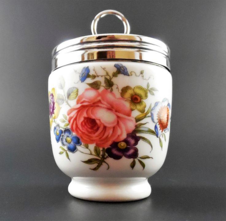Royal Worcester Bournemouth King Size Egg Coddler ~ Royal Worcester Porcelain…