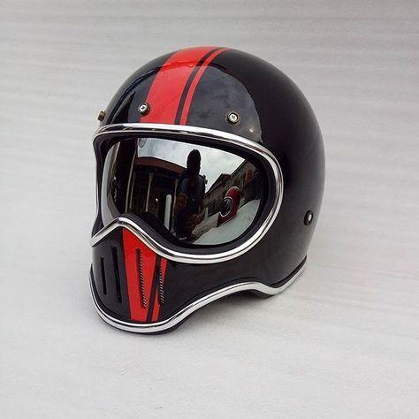 d2116c2a caferacer.arts M50 Vintage Helmet Gloss Custom. Motorcycle Gear Info Order  WA : +6281519927442 Line : zaelaniade #caferacerarts #caferacers  #vintagehelmet ...