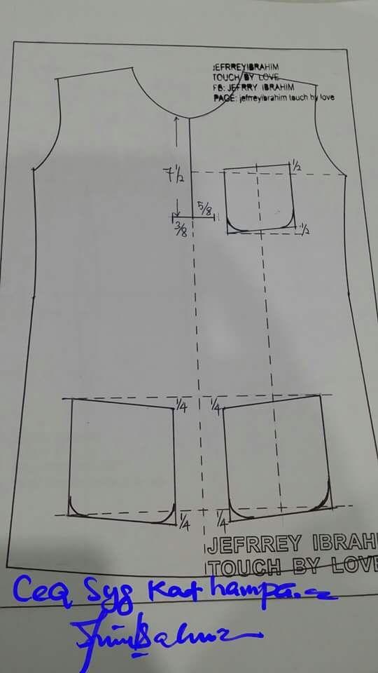 Kedudukan poket baju melayu