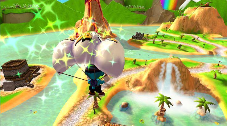 Bashball: Parachute mode.