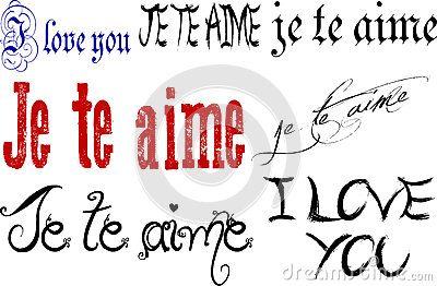 I Love You in English and French