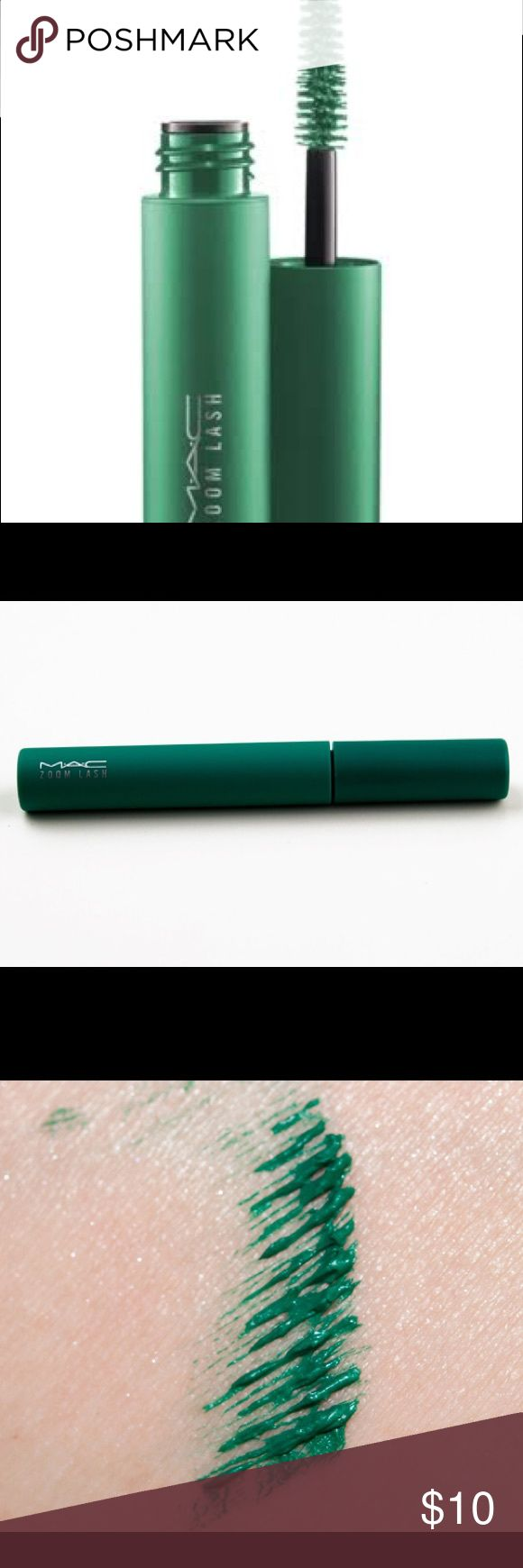MAC Zoom Lash -Green is Green- 🎀BNIB🎀  🎀Authentic🎀  🎀Limited Edition-from the MAC Flighty Collection🎀  This beautiful jade green mascara volumizes, lengthens, and curls your lashes to perfection! MAC Cosmetics Makeup Mascara